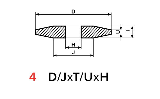 Type 4 Grinding Wheels