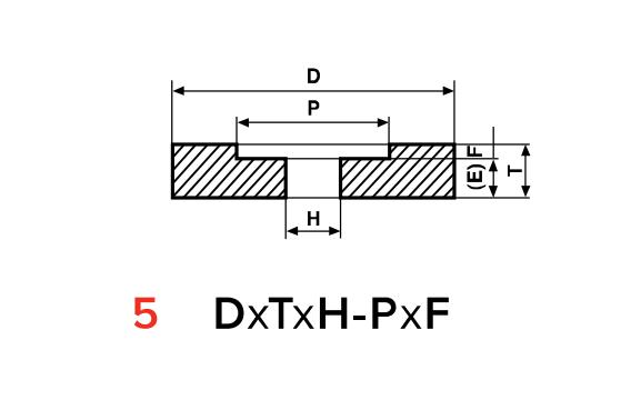 Type 5 Recessed 1 Side Grinding Wheels